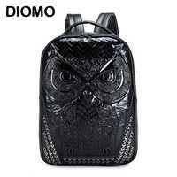 DIOMO bien 3D Owl Mochila GRANDE portátil mochilas para las mujeres y los hombres mochila de alta calidad hombre mochilas