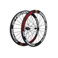 Smileteam Ultra ligero de fibra de carbono completa R13 ruedas 700C 50mm profundidad de 23mm ancho Clincher bicicleta de carreras de bicicleta de carretera ruedas de carbono