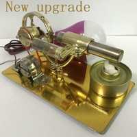 Mini motor de combustión externa Stirling, microgenerador, regalo de cumpleaños, motor de vapor, modelo de ciencia y juguetes educativos