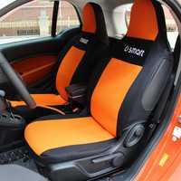 Asiento personalizado protector delgada malla de para Mercedes-Benz smart fortwo cuatro 451 de 453, interior del coche cubierta de asiento transpirable y suciedad