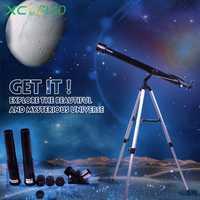 Portátil al aire libre Monocular espacio telescopio astronómico con trípode 675X Zoom Amateur telescopio astronómico F90060 niños regalo