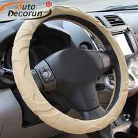 AutoDecorun coche de lujo cuero de la cubierta para VW Volkswagen Passat escarabajo golf sharan POLO Caddy Tiguan magotan touareg 38 cm