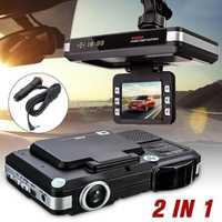 Seguridad dispositivo de alerta temprana 2In1 Cámara del coche DVR grabador Dash Cam y Radar Laser Speed alerta Detector g-sensor jan18