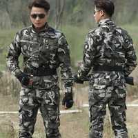 Al aire libre táctico militar ropa uniforme CS uniforme de combate del ejército militar de los hombres de la chaqueta + pantalones de trabajo ropa de trabajo uniforme de camuflaje