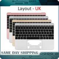 2015 2016 año 2017 para Macbook 12 ''A1534 Reino Unido inglés cubierta superior con teclado dorado/gris /Color plata/oro rosa