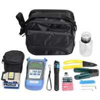 FTTH fibra óptica Kit de herramientas con FC-6S de fibra medidor de potencia óptica 5 km VFL de Localizador Visual de Cable alambre de Stripper