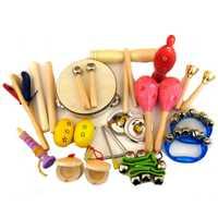 Juego de instrumentos musicales de 15 tipos para niños