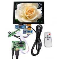 8 pulgadas LCD resolución 1024x768 tablero del regulador de HDMI LCD Panel táctil capacitiva