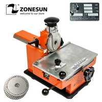 ZONESUN Manual de acero máquina de grabación en relieve para bombas de válvulas de impresora de Metal de aleación de aluminio de la placa de nombre estampación etiqueta grabar herramienta