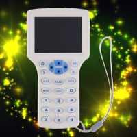Blanco CTCSS 99 hasta 3 km (campo abierto) 9 copia frecuencia cifrada NFC tarjeta inteligente RFID copiadora ID/IC lector escritor con Cable USB
