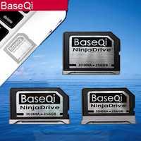 BaseQi NinjaDrive de aluminio 256GB de ampliación de almacenamiento de tarjeta SD para MacBook Air 13