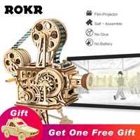 ROKR Vitascope 3D Puzzle en bois projecteur de Film classique portable avec le modèle moderne de Chaplin jouets pour enfants adultes LK601