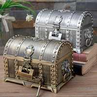 Europea de dos capas de metal caja de joyería organizador de almacenamiento caja de la lata de escondite secreto para chica regalos de Z172