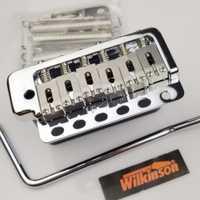 Wilkinson WVP6 cromo plata eléctrica guitarra Tremolo sistema puente + Acero inoxidable sillas hecho en Corea
