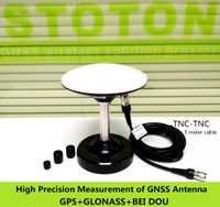 2 piezas alta ganancia siete frecuencia antena GNSS, GPS Glonass Beidou, receptor RTK, GN-GGB307, 5 M TNC-TNC cable, base magnética