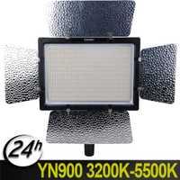 YongNuo YN-900 CRI 95 + Wireless 3200 K-5500 K LED Video lámpara de luz para Nikon Pentax Olympus Canon 900 lámpara 7200LM 54 W