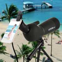 20-60x60/25-75x70 telescopio Zoom telescopio Monocular de gran apertura HD al aire libre observación impermeable película verde telescopio