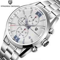 La marca de lujo de PAGANI diseño cronógrafo relojes hombres resistente al agua 30 m japonés movimiento de cuarzo reloj hombres reloj hombre