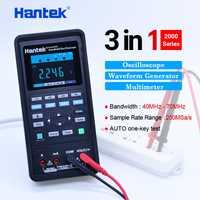 Hantek osciloscopio automotriz + multímetro + generador de forma de onda 3 en 1 osciloscopio portátil USB 2 canales, 40 mhz 70 mhz herramientas