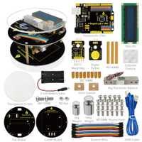 Keyestuido de Escala electrónica de arranque Kit para Arduino educación programación basada en UNO R3 + 64 página libro Manual