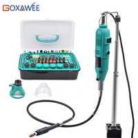 GOXAWEE eléctrica Mini taladro herramientas rotativas accesorios con eje flexible percha para Dremel estilo taladro Mini amoladora de la herramienta