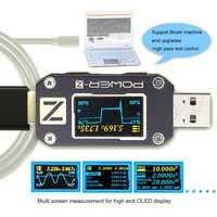ATORCH POWER-Z USB probador tipo c PD QC 3,0 2,0 cargador voltaje corriente ondulación doble tipo C KM001 Volt Meter Power Bank Detector