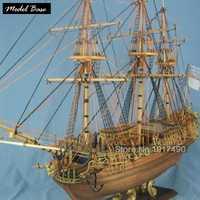 Kit de maqueta de barco para adultos 1:50 modelos de madera para barcos Diy juegos educativos niños modelos barcos madera 3d corte láser Carolina