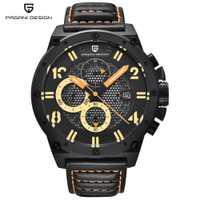 Relojes deportivos de diseño PAGANI para hombre, reloj de cuarzo de cuero, marca de lujo, reloj militar resistente al agua, reloj de pulsera Masculino dropshipping