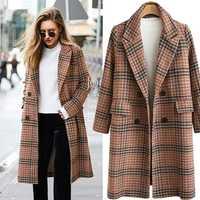 Otoño traje de invierno, chaqueta de las mujeres 2018 Formal de mezclas de lana chaqueta de trabajo Oficina Plus tamaño de manga larga chaqueta de Ucrania 4XL