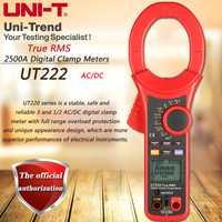 UNI-T UT222 ACDC 2500A medidor pinza Digital de verdadero valor eficaz (RMS amperímetro resistencia/frecuencia/temperatura/prueba de diodos de actual elalmacenamiento