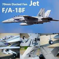 FMS RC avión F/A-18F F18 Super Hornet 70mm acondicionado ventilador FED Jet a gran escala modelo de avión PNP 6CH 6 S se retrae solapas