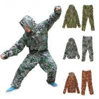 Militar camuflaje de caza uniforme 150D Oxford de poliéster de camuflaje al aire libre ropa deportiva ropa para la caza traje Ghillie