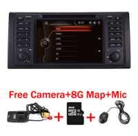 Original UI 1 din reproductor de DVD del coche para bmw e53 E39 X5 con GPS Bluetooth Radio RDS USB SD dirección control de rueda Cámara gratis mapa