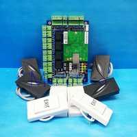 Cuatro puertas Control DE ACCESO panel RFID tarjeta Control DE ACCESO kit TCP/IP multi puerta seguridad Control DE ACCESO LER + lector Wiegand L04
