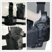 Pistolera de pistola militar Airsoft Paintball SWAT pistolera de tiro de combate estilo táctico Safriland 3280 funda de pierna de cintura