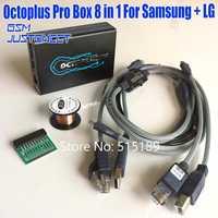 Lo nuevo en la versión Original octoplus Pro caja de 8 en 1 Unidades (5 Cable + eMMC/JTAG activado + cobre de alambre) para Samsung para LG activado