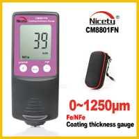 Nuevo Nicety de la pintura del coche medidor de espesor manómetros de pintura y barniz recubrimiento de película para los coches de CM8801FN Fe NFe 2 en 1