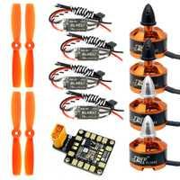 1 Unidades 1806 2400KV sin escobillas de Motor + Mini BLHeli dispositivos optoelectrónicos 16A ESC + 5045 hélices CW CCW con AP BEC para 250 de 210 RC Drone
