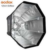 Godox paraguas conveniente y rápido estilo octagonal 120 cm softbox para Kits de estudio de fotografía Flash con montaje Bowen