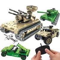 Guerra militar brinquedos Control remoto tanque bloques Technic ladrillos juguetes de Control remoto RC tanque modelo bloques de construcción juguetes