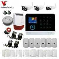YoBang seguridad inalámbrica WIFI GSM GPRS APP Control sistema de alarma de seguridad para el hogar Control de cámara de vídeo al aire libre Sensor de humo de fuego