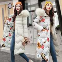 2018 moda invierno chaqueta mujeres Slim piel sólida con capucha ambos dos lados desgaste Chaqueta larga Parkas gruesa capa caliente más tamaño