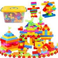 WYNLZQ niños juguetes de plástico bloques de construcción aprendizaje educativo Kindergarten juguetes de interconexión para niños niñas