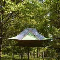 220*200 cm suspendido árbol tienda ultraligero árbol casa Camping hamaca a prueba de agua 4 temporada carpa para senderismo mochila