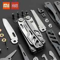 En stock Xiaomi Mijia huohou multi-función cuchillo plegable de bolsillo 420J2 hoja de acero inoxidable caza camping herramienta de supervivencia de sharp