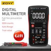 ZOYI ZT-X de verdadero valor eficaz (RMS AUTO de la gama multímetro Digital AC/DC amperímetro voltímetro 9999 cuenta NCV espera retroiluminación de la pantalla LCD pantalla como RM409B