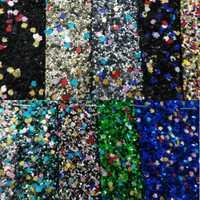 90x134 cm cuero sintético Faux leather fabric Glitter cuero Big Glitter multi-colores brillo cuero para coser arco DIY P104