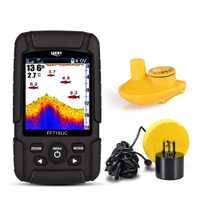Envío Gratis! Suerte FF718LiC profundidad Fishfinder transductor 2-en-1 Cable & Wireless Sensor portátil impermeable buscador de peces