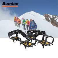 Crampones hielo incluido profesional manganeso acero Ice Gripper junta de nieve para esquí escalada 1 par 15-0022