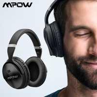 Original Mpow H5 inalámbrico Bluetooth auriculares con micrófono activa de ruido cancelación de auriculares con bolsa de transporte para PC TV Smartphone
